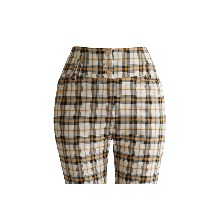 20's 걸리쉬 체크 팬츠 20's Girlish check pants (mustard)
