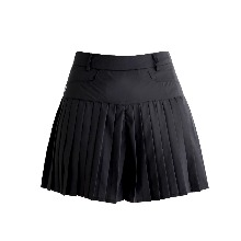 플리츠 숏 팬츠 Pleats short pants (black)