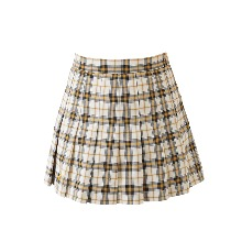 20's 걸리쉬 체크 스커트 20's girlish check skirt (mustard)